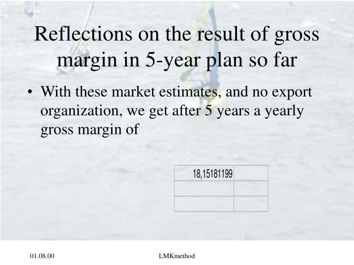 Reflections on the result of gross margin in 5 year plan so far