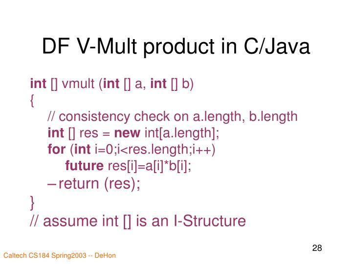 DF V-Mult product in C/Java