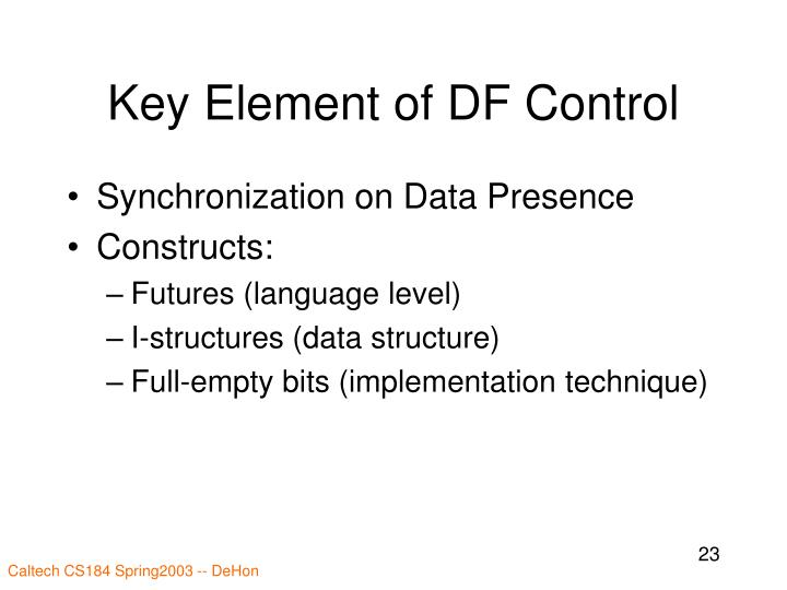 Key Element of DF Control