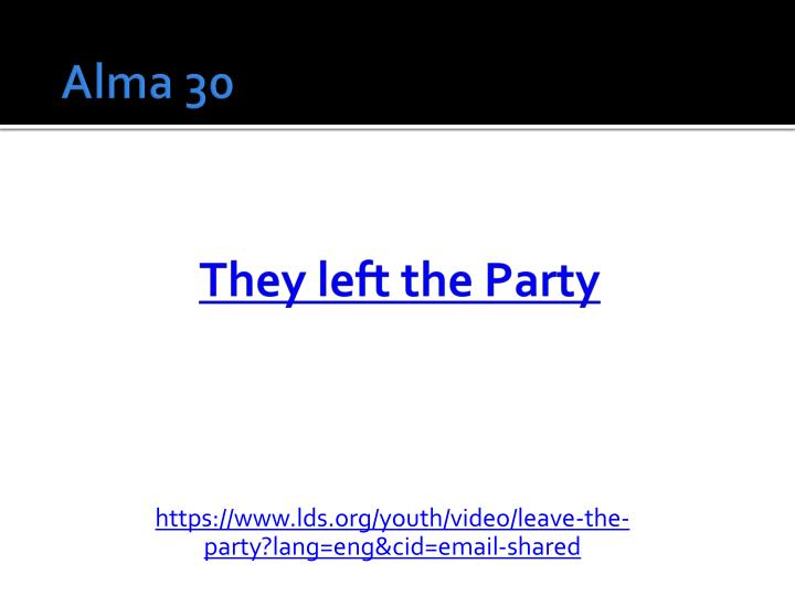 They left the Party