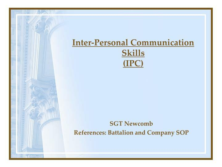 Inter personal communication skills ipc