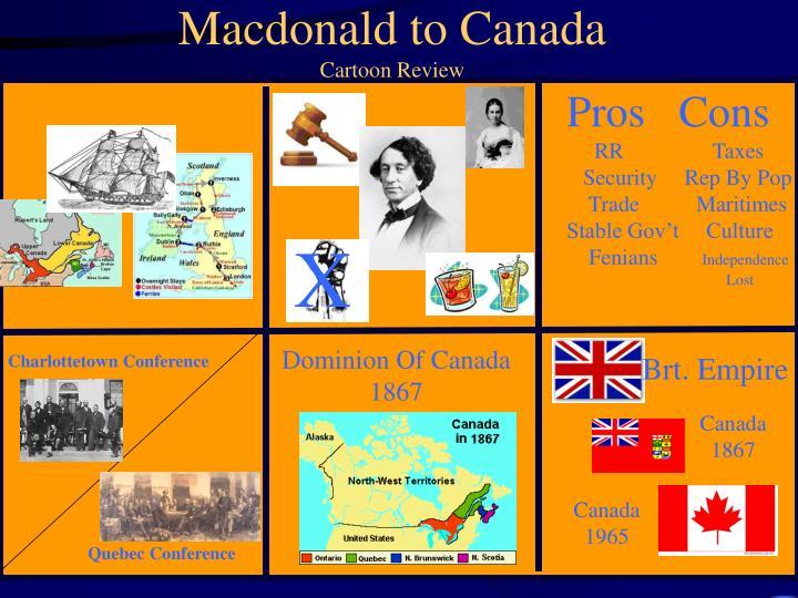 Macdonald to Canada