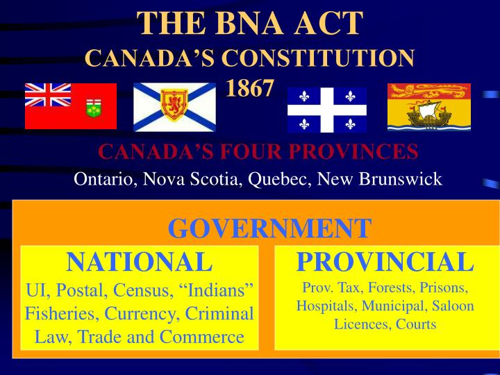 THE BNA ACT