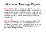 attacks on message digests