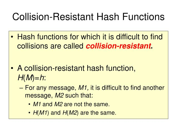 Collision-Resistant Hash Functions
