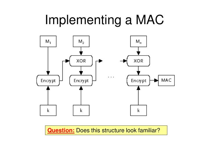 Implementing a MAC