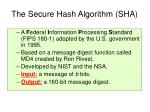 the secure hash algorithm sha