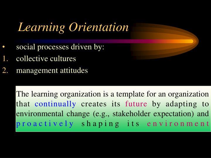 Learning Orientation