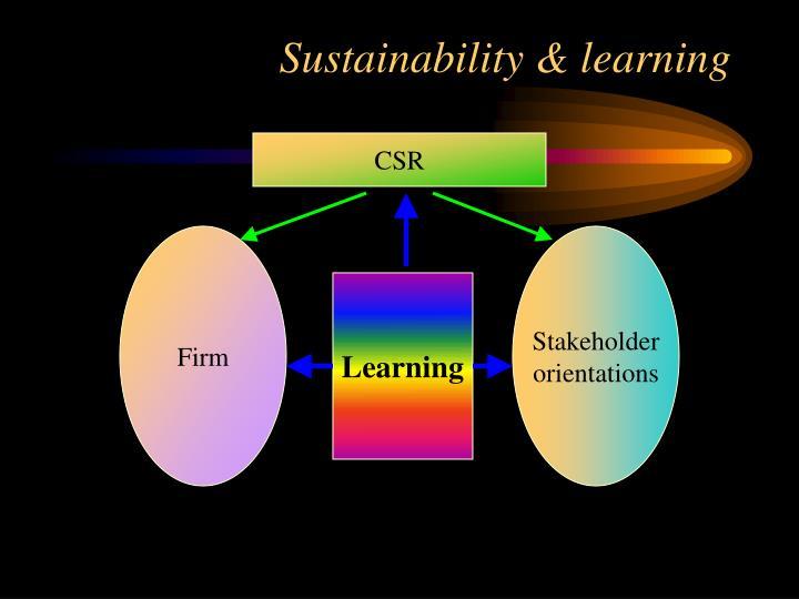 Sustainability & learning