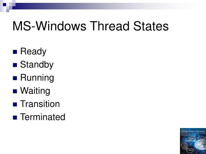 MS-Windows Thread States