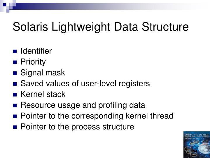 Solaris Lightweight Data Structure