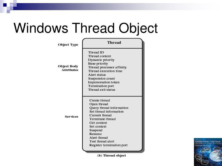 Windows Thread Object