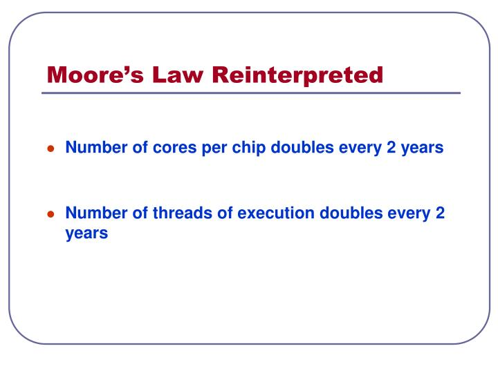 Moore's Law Reinterpreted