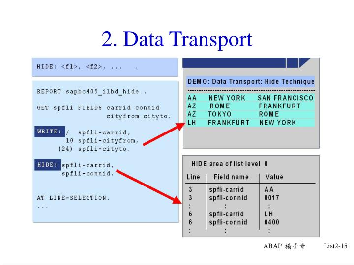 2. Data Transport
