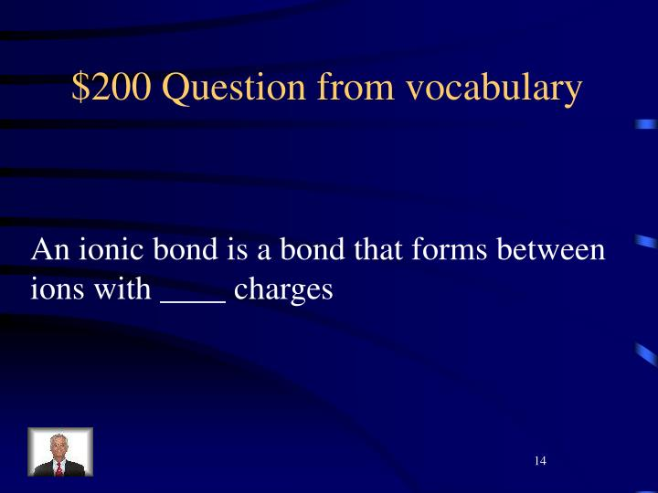 $200 Question from vocabulary