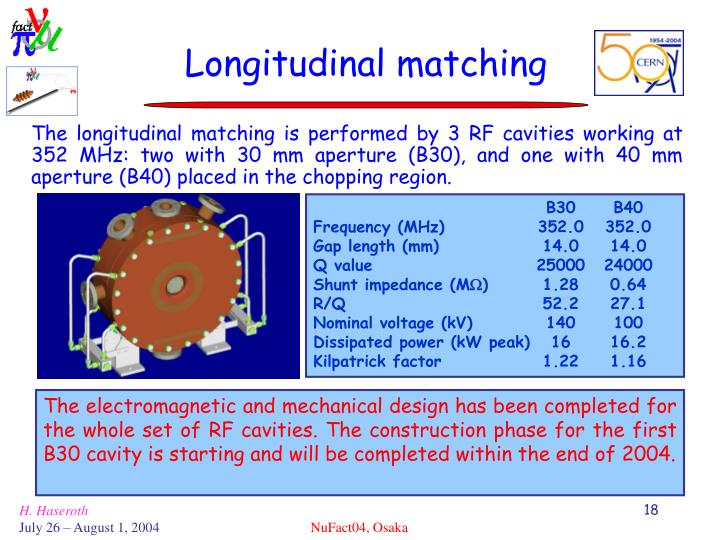 Longitudinal matching