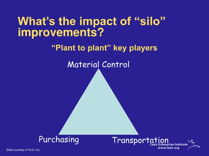 "What's the impact of ""silo"" improvements?"