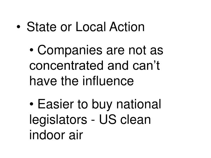 State or Local Action