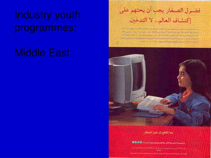 Industry youth programmes: