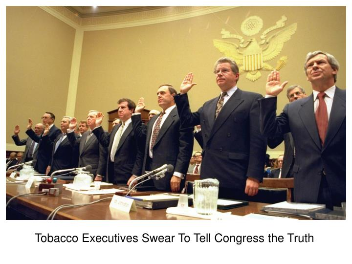 Tobacco Executives Swear To Tell Congress the Truth