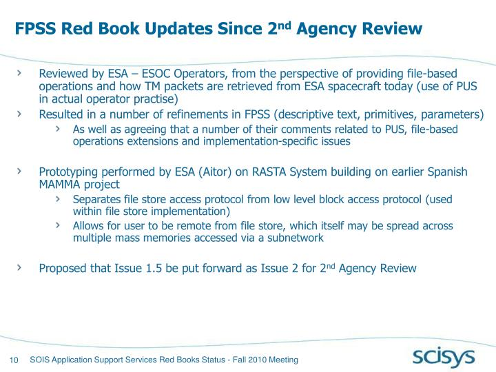 FPSS Red Book Updates Since 2