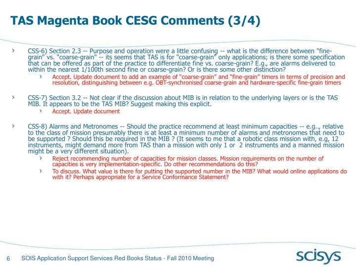 TAS Magenta Book CESG Comments (3/4)
