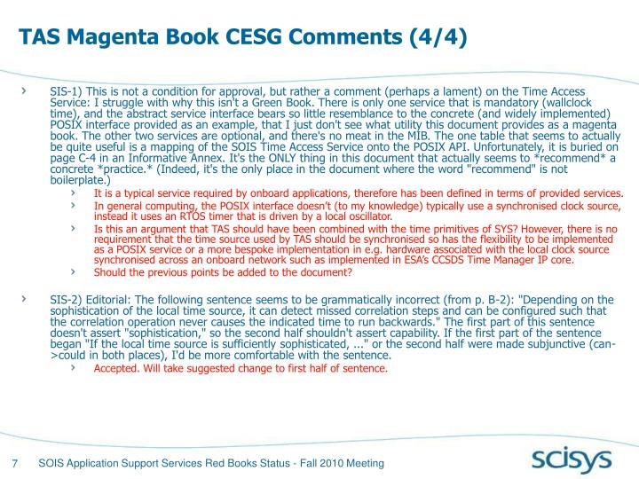 TAS Magenta Book CESG Comments (4/4)