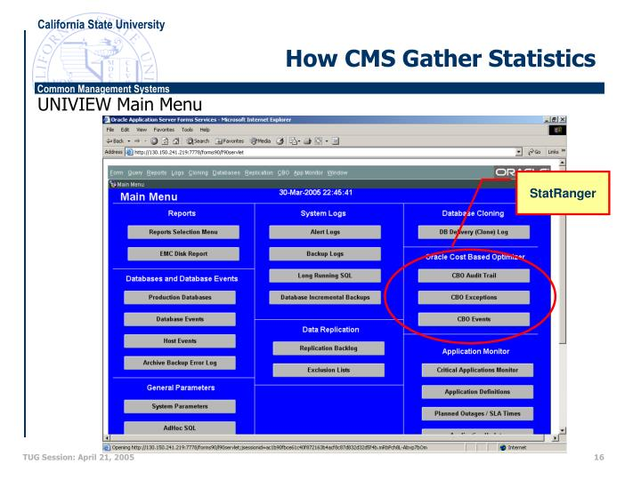 How CMS Gather Statistics