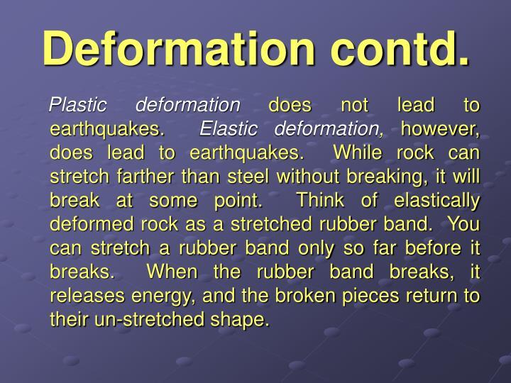Deformation contd.