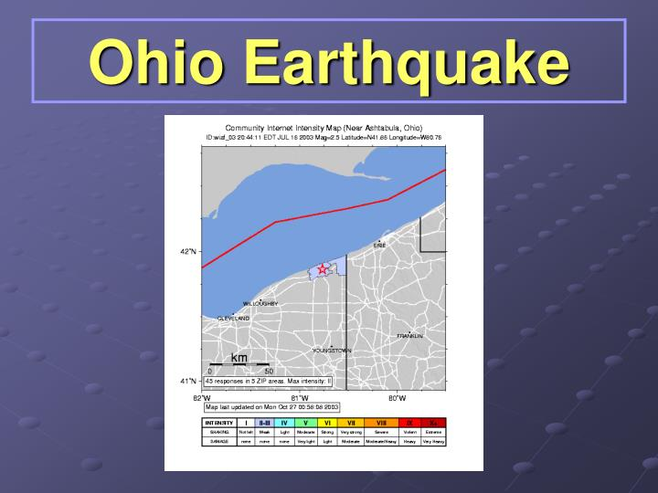 Ohio Earthquake