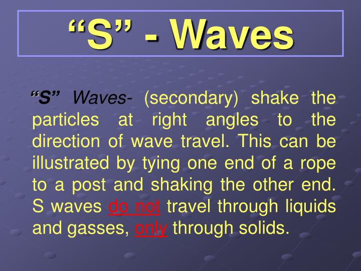 """""""S"""" - Waves"""