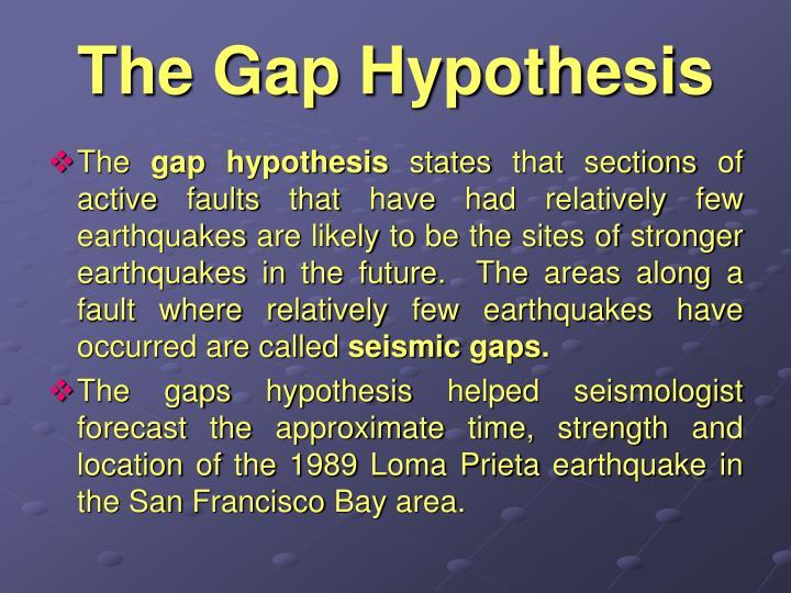 The Gap Hypothesis