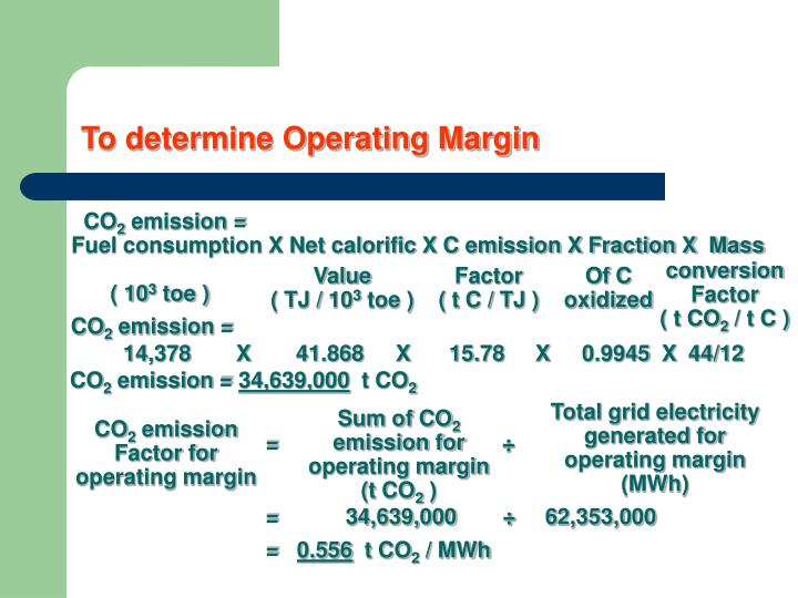 To determine Operating Margin