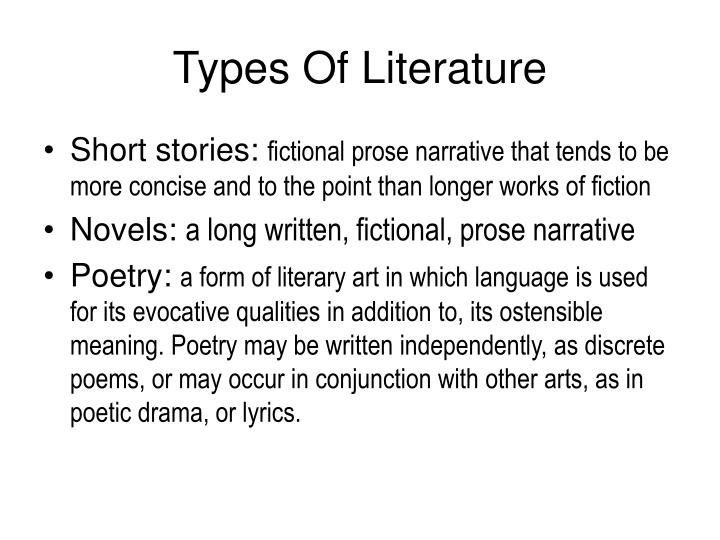 Types Of Literature