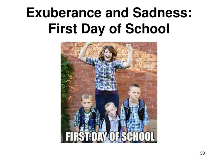 Exuberance and Sadness: