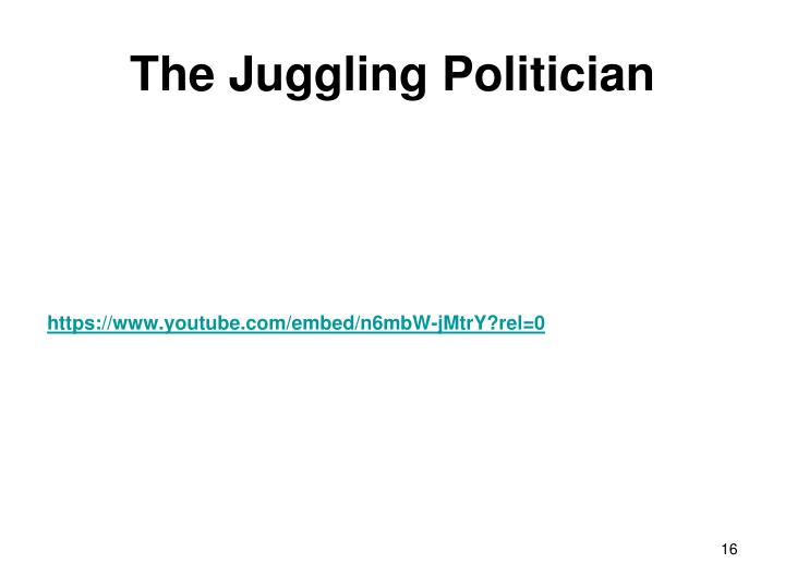 The Juggling Politician