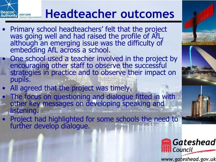 Headteacher outcomes