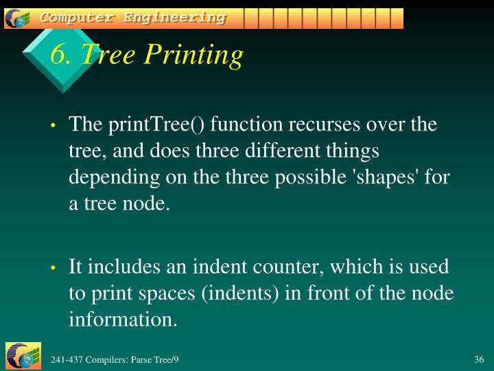 6. Tree Printing
