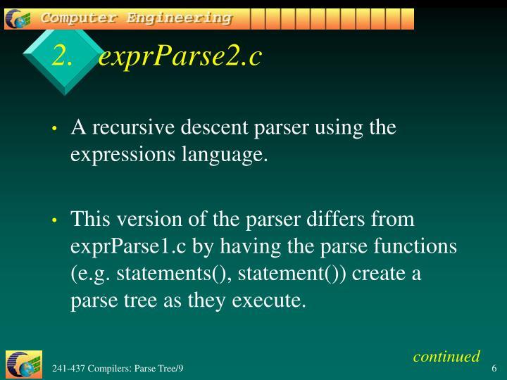 exprParse2.c