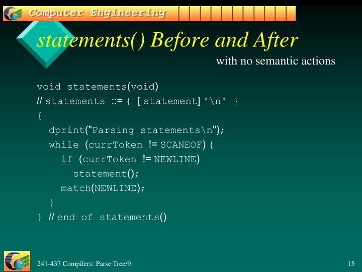 statements() Before and After