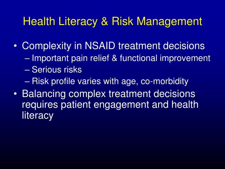 Health Literacy & Risk Management