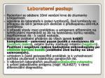 laboratorn postup