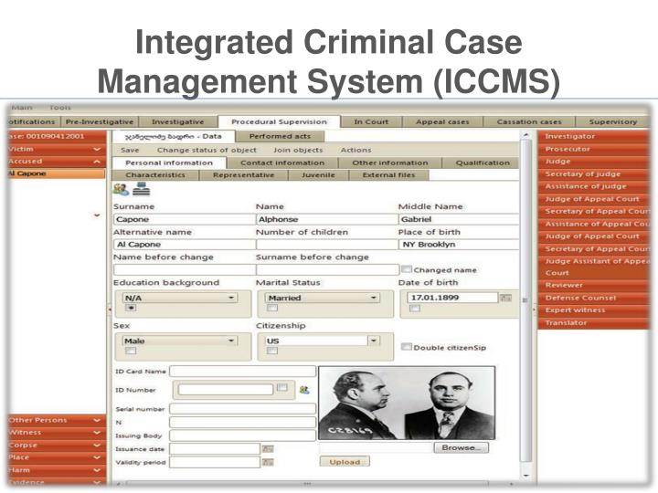Integrated Criminal Case Management System (ICCMS)