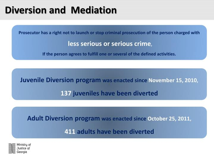 Diversion and  Mediation
