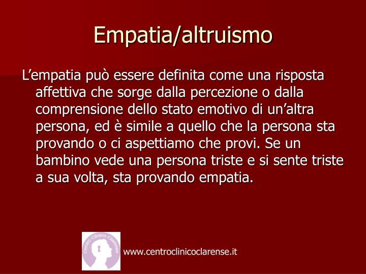 Empatia/altruismo