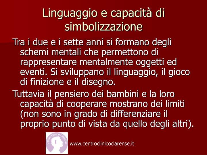 Linguaggio e capacità di simbolizzazione