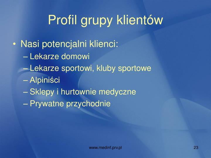 Profil grupy klientów