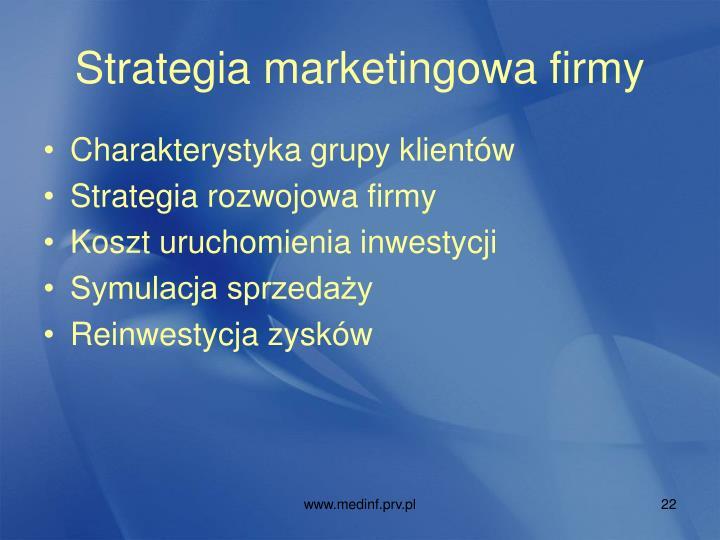 Strategia marketingowa firmy