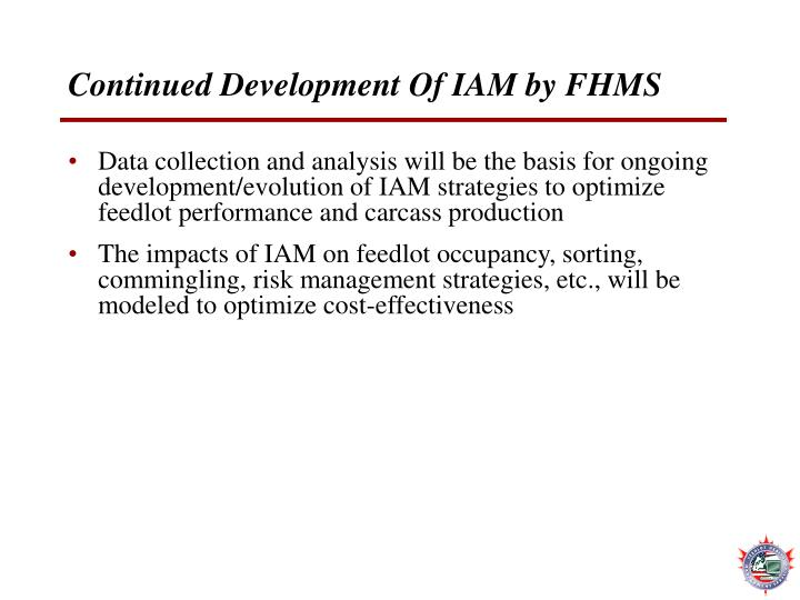 Continued Development Of IAM by FHMS