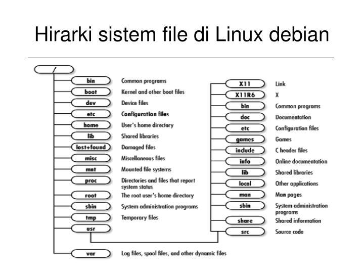 Hirarki sistem file di Linux debian